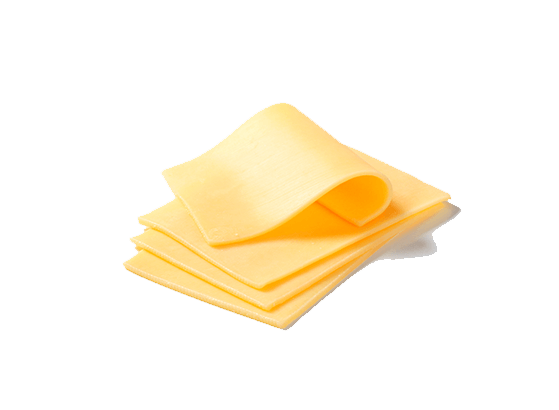 Cheese sliced